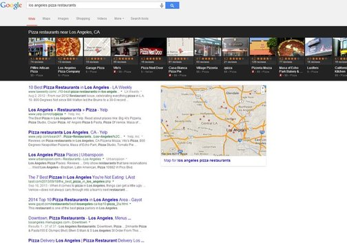 Los Angeles Local SEO Search Results