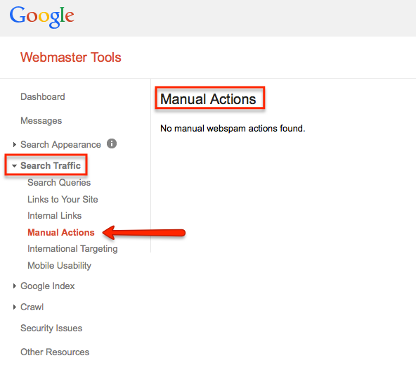How To Check For Google Penalty GWT